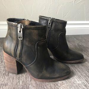 Hinge Genuine Leather booties